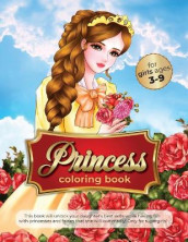 princess coloring book for girls ages 3-9 av The Green Brothers (Heftet)