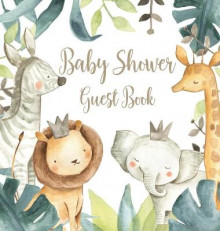 Safari Baby Shower Guest Book (Hardcover) av Lulu and Bell (Innbundet)