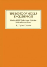 Omslag - The Index of Middle English Prose
