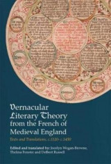 Omslag - Vernacular Literary Theory from the French of Medieval England