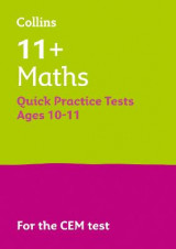 Omslag - 11+ Maths Quick Practice Tests Age 10-11 for the CEM Tests