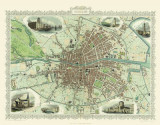 Omslag - John Tallis Map of Dublin 1851