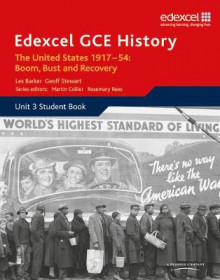 Edexcel GCE History the United States 1917-54: Boom Bust & Recovery: Student Book Unit 3 av Geoff Stewart, Les Barker og Martin Rees (Heftet)