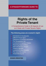 Omslag - The Rights Of The Private Tenant