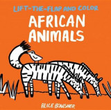 Omslag - Lift-The-Flap and Color: African Animals