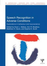 Omslag - Speech Recognition in Adverse Conditions