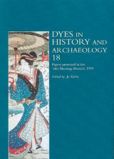 Omslag - Dyes in History and Archaeology: Vol. 18