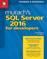 Omslag - Murach's SQL Server 2016 for Developers