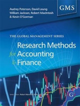 Omslag - Research Methods for Accounting and Finance