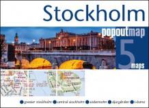 Stockholm Popout Map Kart Falset Tanum Nettbokhandel