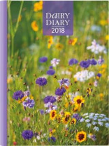 Omslag - Dairy Diary 2018: A5 Week-to-View Diary with Recipes, Pocket and Stickers 2018