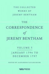 Omslag - The Correspondence of Jeremy Bentham: Volume 5