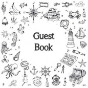 Guest Book, Visitors Book, Guests Comments, Vacation Home Guest Book, Beach House Guest Book, Comments Book, Visitor Book, Nautical Guest Book, Holiday Home, Bed & Breakfast, Retreat Centres, Family Holiday, Guest Book (Hardback) av Lollys Publishing (Innbundet)
