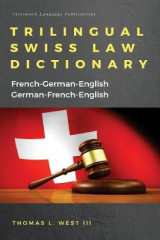 Omslag - Trilingual Swiss Law Dictionary