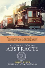 Omslag - Archaeological Institute of America 117th Annual Meeting Abstracts: Volume 39