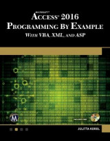 Omslag - Microsoft Access 2016 Programming by Example with VBA, XML, and ASP