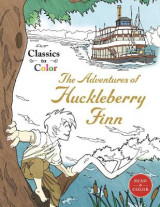 Omslag - Classics to Color: The Adventures of Huckleberry Finn