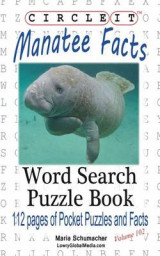 Omslag - Circle It, Manatee Facts, Word Search, Puzzle Book