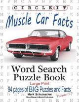 Omslag - Circle It, Muscle Car Facts, Large Print, Word Search, Puzzle Book