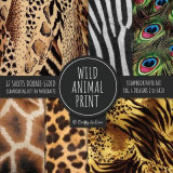 Omslag - Wild Animal Print Scrapbook Paper Pad 8x8 Scrapbooking Kit for Papercrafts, Cardmaking, Printmaking, DIY Crafts, Nature Themed, Designs, Borders, Backgrounds, Patterns