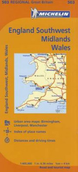 Omslag - Michelin Map Great Britain: England Southwest, Midlands, Wales