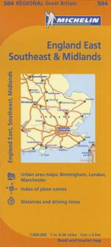 Omslag - Michelin Map Great Britain: England East, Southeast & Midlands