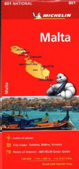 Omslag - Michelin Malta Map 801