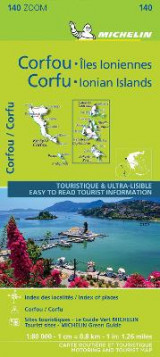 Omslag - Corfu & the Ionian Islands - Michelin Zoom Map 140