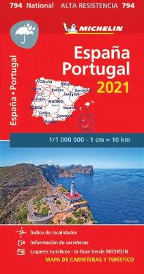Spain & Portugal 2021 - High Resistance National Map 794 (Kart, uspesifisert)