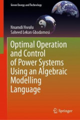 Omslag - Optimal Operation and Control of Power Systems Using an Algebraic Modelling Language