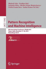 Omslag - Pattern Recognition and Machine Intelligence