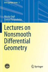 Omslag - Lectures on Nonsmooth Differential Geometry