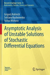 Omslag - Asymptotic Analysis of Unstable Solutions of Stochastic Differential Equations