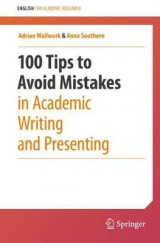 Omslag - 100 Tips to Avoid Mistakes in Academic Writing and Presenting