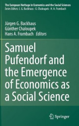Omslag - Samuel Pufendorf and the Emergence of Economics as a Social Science