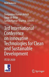 Omslag - 3rd International Conference on Innovative Technologies for Clean and Sustainable Development