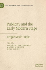 Omslag - Publicity and the Early Modern Stage