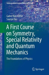 Omslag - A First Course on Symmetry, Special Relativity and Quantum Mechanics
