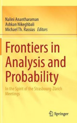 Omslag - Frontiers in Analysis and Probability