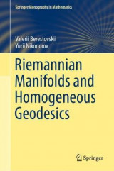 Omslag - Riemannian Manifolds and Homogeneous Geodesics