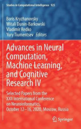 Omslag - Advances in Neural Computation, Machine Learning, and Cognitive Research IV