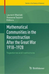Omslag - Mathematical Communities in the Reconstruction After the Great War 1918-1928