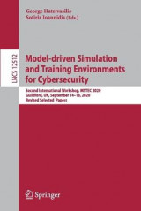 Omslag - Model-driven Simulation and Training Environments for Cybersecurity