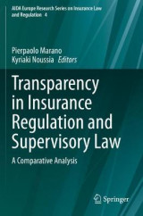 Omslag - Transparency in Insurance Regulation and Supervisory Law