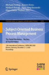 Omslag - Subject-Oriented Business Process Management. The Digital Workplace - Nucleus of Transformation