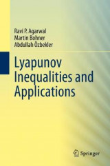 Omslag - Lyapunov Inequalities and Applications
