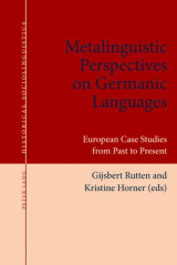 Omslag - Metalinguistic Perspectives on Germanic Languages