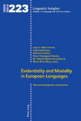 Omslag - Evidentiality and Modality in European Languages