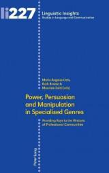 Omslag - Power, Persuasion and Manipulation in Specialised Genres