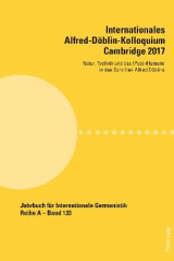 Omslag - Internationales Alfred-Doeblin-Kolloquium Cambridge 2017